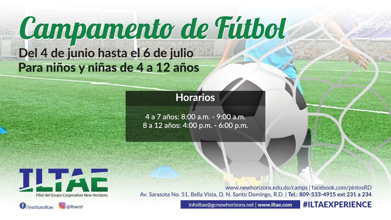 horarios campamento de futbol