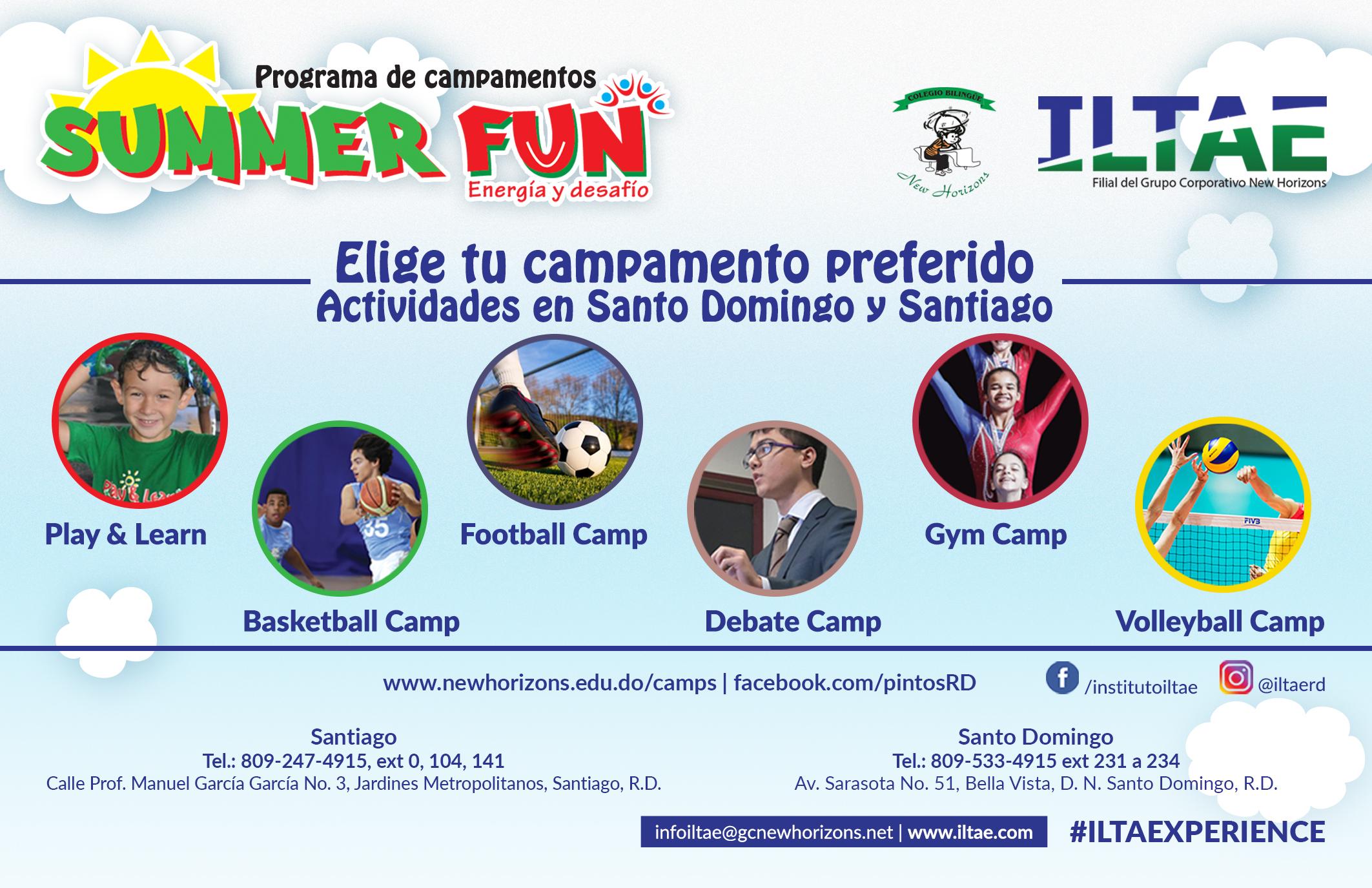 programas de verano summerfun 2018